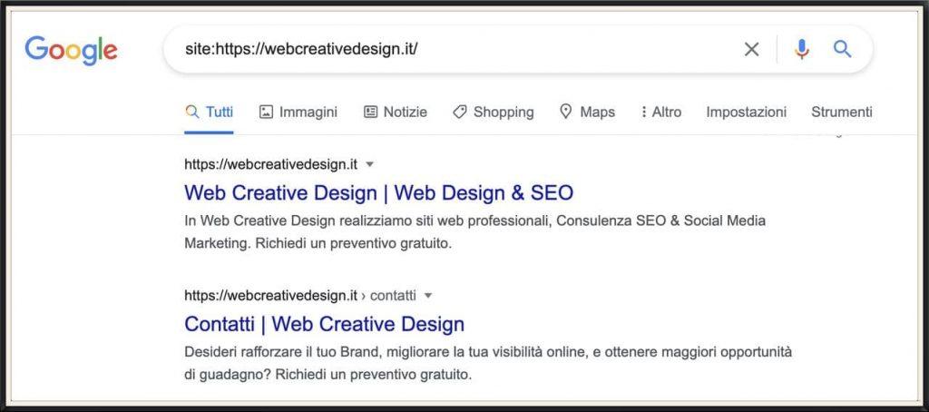 Verificare indicizzazione sito su Google